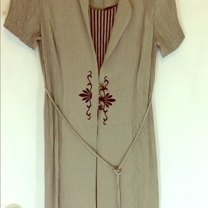 Dresses & Skirts - Dawn Joy 9/10 embroidered dress tan